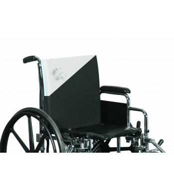 Dual zone wheelchair back cushion