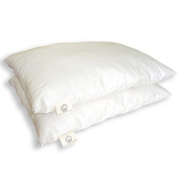 bed pillow organic wool with organic cotton