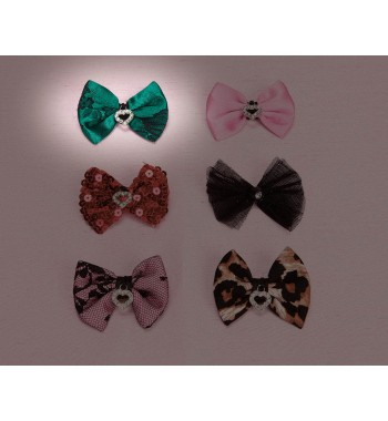 Tapestry Hair Bow - Pink