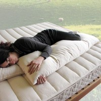 organic cotton & wool body pillow