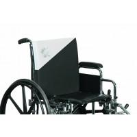Dual zone wheelchair back cushion
